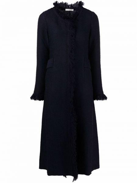 Шерстяное пальто - синее Charlott