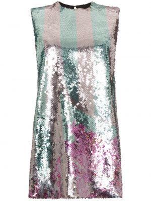 Sukienka mini z jedwabiu bez rękawów Halpern