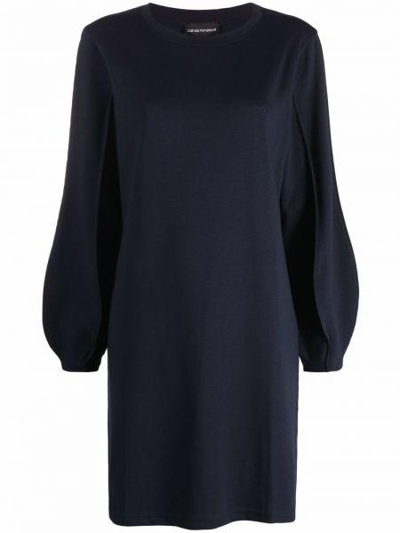Синее платье из вискозы Emporio Armani