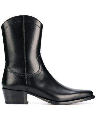 Ботильоны черный кожаный Dsquared2