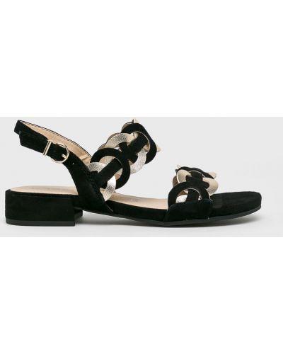 Сандалии черные на каблуке Tamaris
