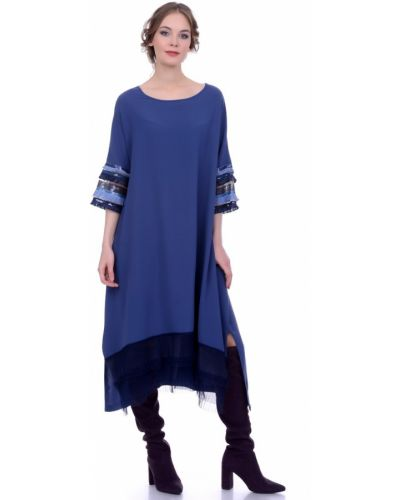 Платье миди футболка в стиле бохо Lautus