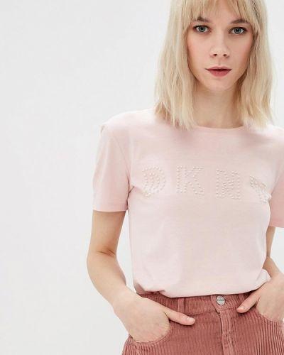 Розовая футболка 2019 Dkny