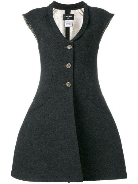 Платье мини серое миди Chanel Pre-owned