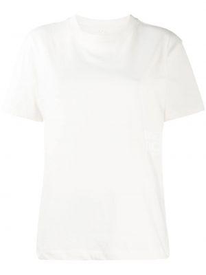 Белая прямая футболка в рубчик с круглым вырезом T By Alexander Wang