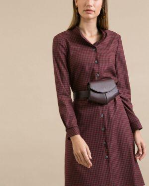 Платье миди на пуговицах с поясом Emka
