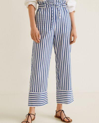 Широкие брюки с завышенной талией прямые Mango