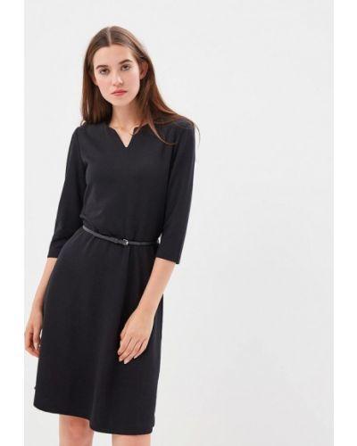Черное платье с длинными рукавами S.oliver