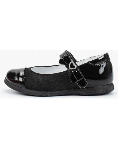 Лаковые черные туфли из нубука котофей