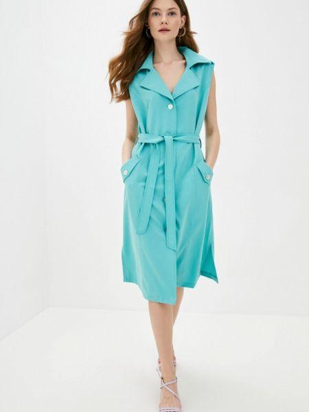 Бирюзовое повседневное платье Dizzyway