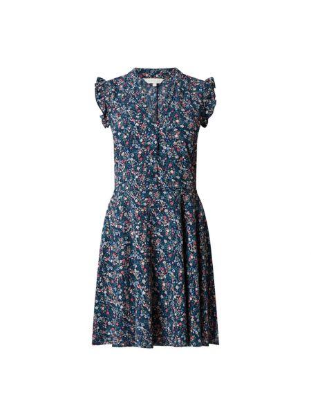 Niebieska sukienka rozkloszowana w kwiaty Apricot