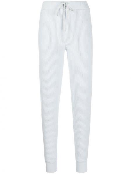 Синие зауженные спортивные брюки с поясом в рубчик Wildfox