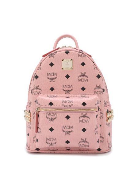 Кожаный рюкзак с заклепками на молнии Mcm