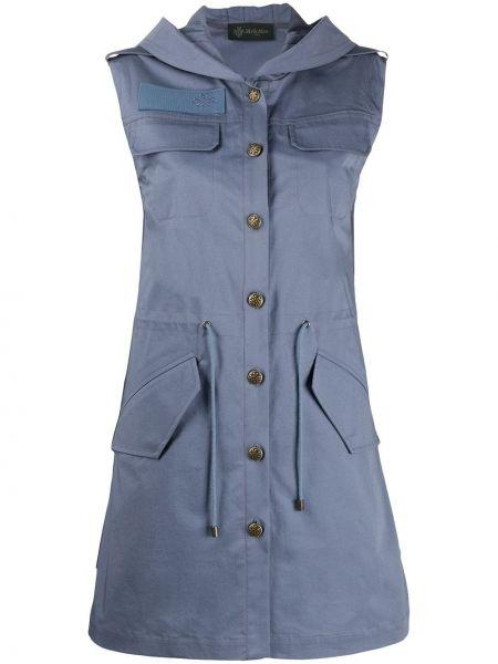 Платье мини на пуговицах с капюшоном Mr & Mrs Italy