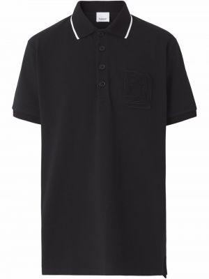 Koszula krótki rękaw - czarna Burberry