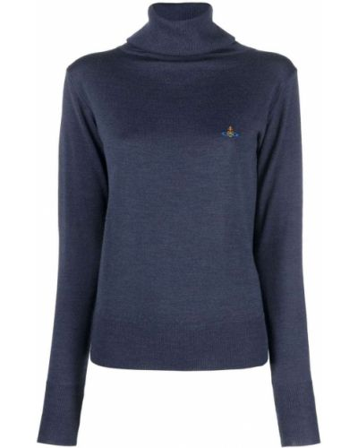 Вязаный джемпер - синий Vivienne Westwood