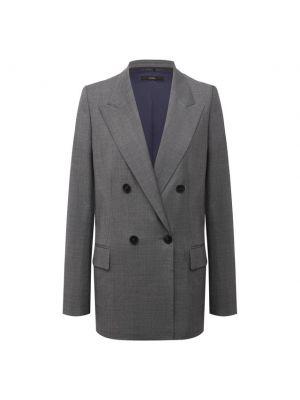 Шерстяной пиджак - серый Windsor
