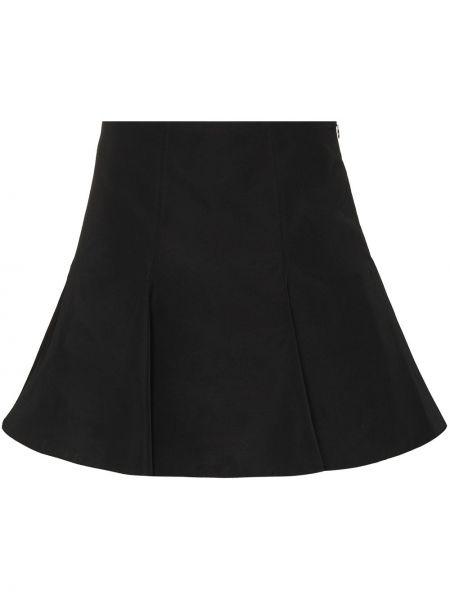 Черная хлопковая юбка Valentino