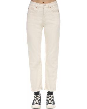 Укороченные джинсы с манжетами mom Levi's Red Tab