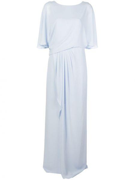 Приталенное платье мини с драпировкой с вырезом с короткими рукавами Halston Heritage