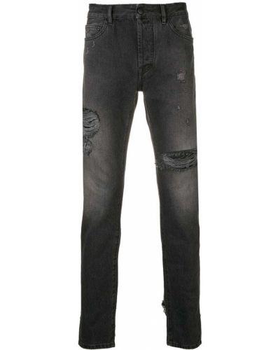 Bawełna czarny obcisłe dżinsy z kieszeniami Marcelo Burlon County Of Milan