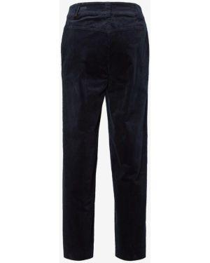Синие брюки свободного кроя на молнии вельветовые Tom Tailor