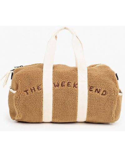 Коричневая сумка из искусственного меха Mango Kids