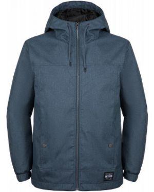 Спортивная прямая синяя куртка с капюшоном мембранная Termit