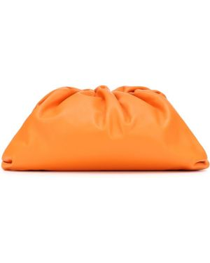 Pomarańczowa kopertówka skórzana Bottega Veneta