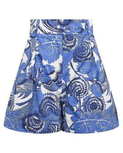 Хлопковые синие шорты Tak.ori