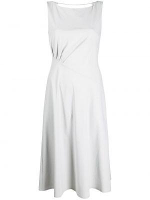 Открытое серое платье миди с открытой спиной Patrizia Pepe