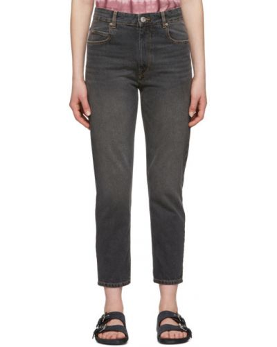 Pomarańczowy jeansy do kostek z kieszeniami Isabel Marant Etoile