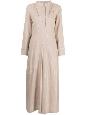 Расклешенное платье макси с воротником-стойка Bambah