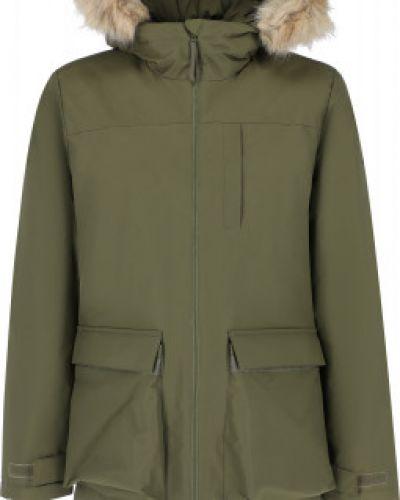 Зеленая утепленная куртка Adidas