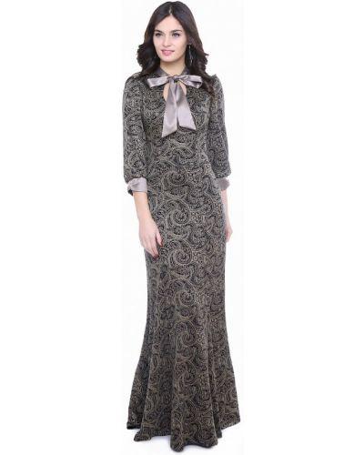 Платье макси осеннее бежевое Olivegrey