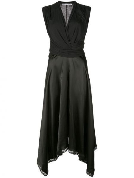 Платье миди коктейльное с V-образным вырезом Alexander Wang