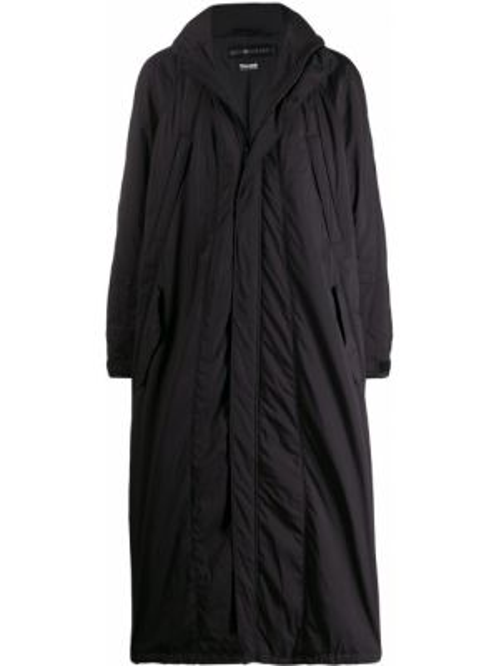 Czarny płaszcz z długimi rękawami Issey Miyake Men