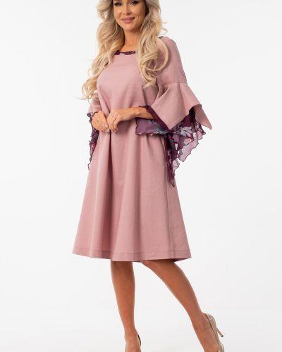 Шифоновое платье с оборками свободного кроя с вырезом Wisell