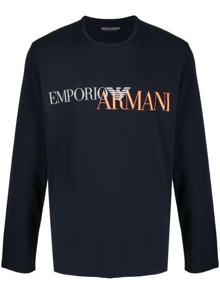 Z rękawami prosto dres z kieszeniami okrągły Emporio Armani