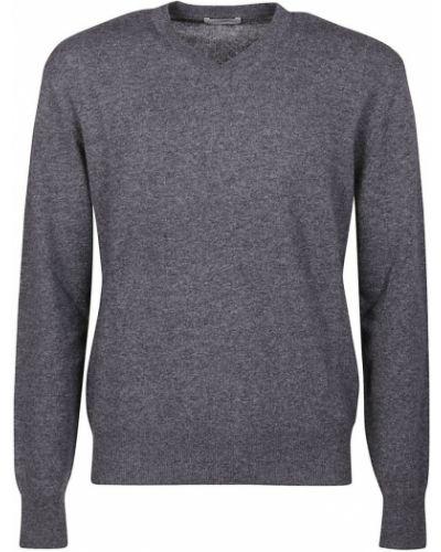 Szary sweter z dekoltem w serek Ballantyne