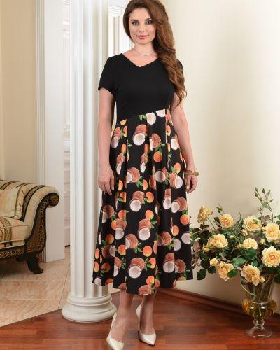 Короткое большое платье в стиле бохо со складками Salvi-s