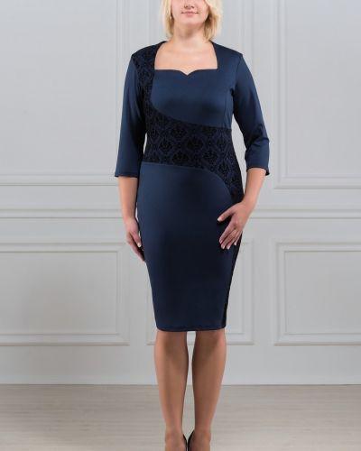 С рукавами трикотажное платье для офиса Rosa Blanco