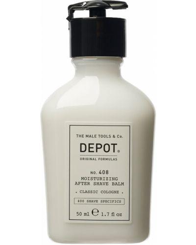 Czarny skórzany balsam do golenia przezroczysty nawilżający Depot