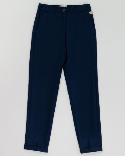 Школьные модные синие классические брюки Button Blue