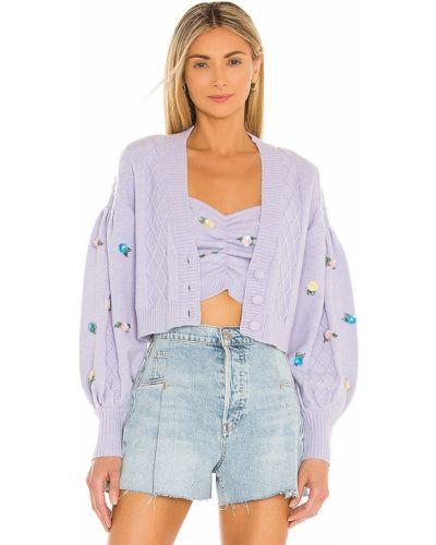Фиолетовый текстильный кардиган For Love & Lemons