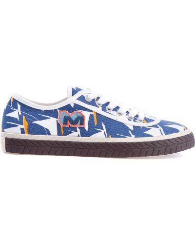 Кроссовки низкие на шнуровке Marni