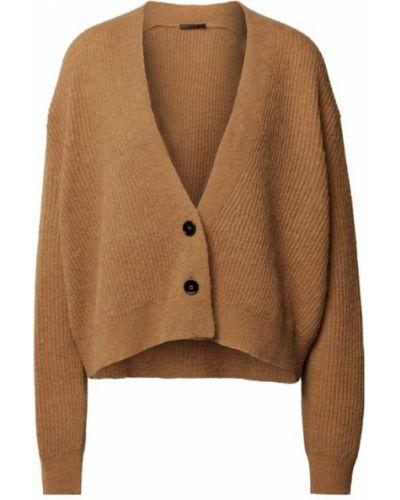 Brązowy sweter z dekoltem w serek Drykorn