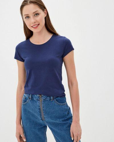 Синяя футболка с короткими рукавами Vitacci