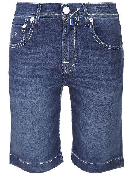 Синие джинсовые шорты на молнии с карманами из овчины Jacob Cohen