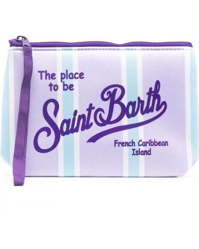 Różowa kopertówka w paski z printem Mc2 Saint Barth Kids